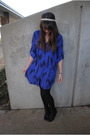 Blue-urban-outfitters-dress-black-walmart-tights-black-urban-outfitters-shoe