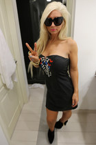 Topshop boots - buytero dress - chelsea house of harlow sunglasses - YSL ring