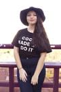 Navy-romwe-jeans-black-romwe-hat-black-romwe-blouse