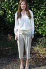 White-h-m-blouse-off-white-inwear-pants-off-white-friss-co-wedges