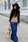 Black-h-m-hat-nude-reporter-t-shirt-blue-viva-skirt-gray-asoscom-watch