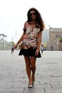 Cream-stradivarius-bag-black-h-m-skirt-peach-bershka-blouse