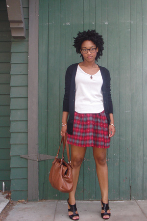 Urban Outfitters shirt - Wendys handmade skirt - sweater - Nine West shoes