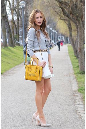 Zara heels - Celine bag - Zara skirt - Romwecom blouse