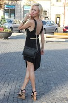 Dinodirect dress - Zara bag - storets wedges