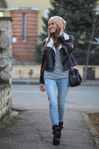 choiescom boots - choiescom jeans - Sheinsidecom jacket - Romwecom bag