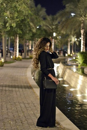 black H&M shoes - black divacharms dress - black Michael Kors bag