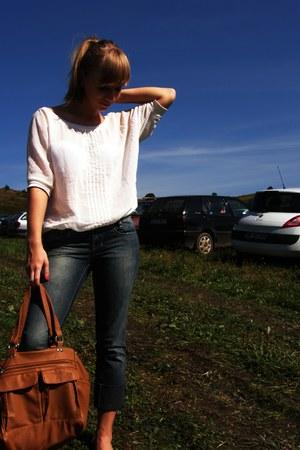 eggshell sheer Koton blouse - classic kenvelo jeans