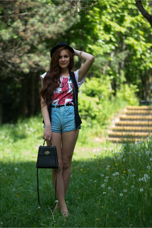 random t-shirt - cotton Bershka hat - DIY pants - Pimkie flats - H&amp;M vest