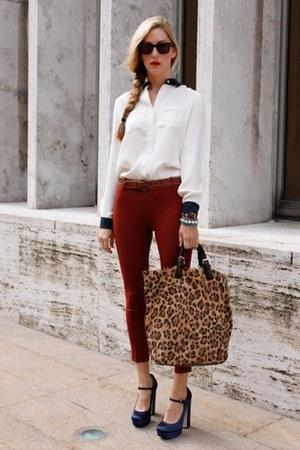 Gucci bag - Topshop panties - H&M blouse