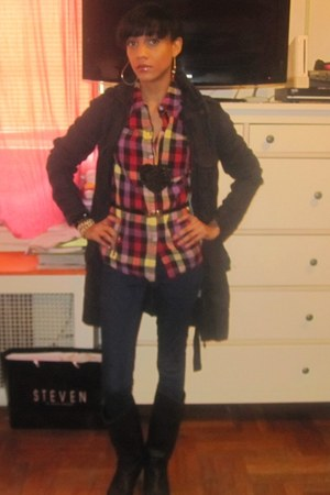 Aldo boots - Forever 21 jeans - free people jacket - Forever 21 shirt - Endless