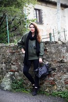dark green Maison About for About sweater - black tatoosh pronos shoes