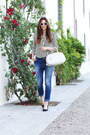 Navy-rinascimento-jeans-black-sheinside-shirt-white-prada-bag