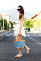 jolie moi dress - Desmo bag - romwe sunglasses - bronx sandals