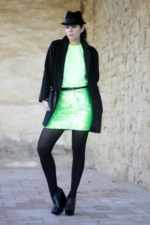 asos skirt - asoscom shoes - asos tights