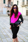 Black-sarenza-shoes-hot-pink-milly-sweater-black-stradivarius-skirt