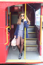 navy el corte ingles coat - heather gray Urban Outfitters shirt - Guess bag