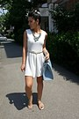 White-dress-light-blue-h-m-bag-light-blue-necklace-golden-belt