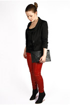 leather Amisu pants - black Yoké blazer - metal Ebay bag