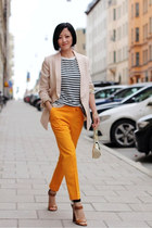 Alexander Wang top - hm blazer - COS pants - Zara sandals