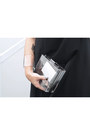Black-black-long-dress-dress-transparent-clutch-bag