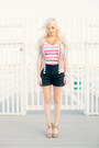 Navy-sailor-knitted-dove-shorts-hot-pink-striped-tank-top
