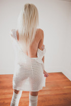 white American Apparel dress - white American Apparel socks