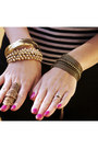 Gold-ring-necklace-pree-brulee-accessories-hot-pink-nails-essie-accessories