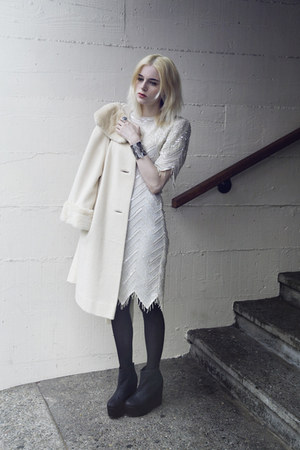 dress - second hand coat
