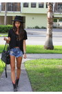 Betsy-johnson-boots-forever-21-hat-cole-haan-bag-wcp-shorts-esly-top