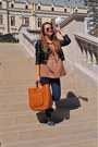 Navy-zara-jeans-crimson-h-m-jacket-tawny-shirt-bronze-zara-bag