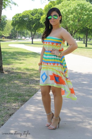 The Stylish closet dress - Charlotte Russe heels - Target glasses