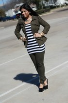 army green Forever 21 jeans - army green Forever 21 jacket