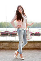 light blue Only jeans - light pink Only jacket - bubble gum liebeskind bag