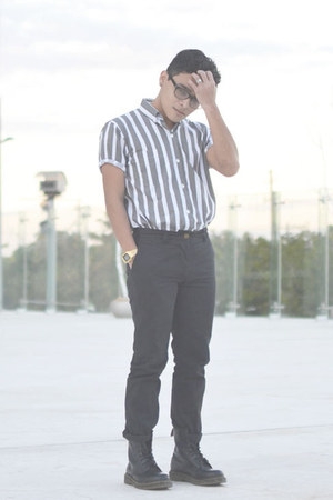 Dr Martens boots - stripes Lura shirt - asos pants