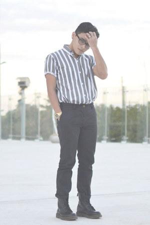 Dr Martens boots - stripes Lura shirt - asos pants