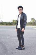 River Island jacket - choiescom boots - Zara jeans - Zara hat