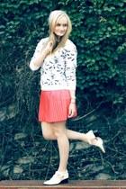 white Senso boots - white Neal Murren jacket - red Beloved skirt