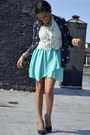 Black-pumps-michael-antonio-shoes-aquamarine-asymetrical-lulus-dress