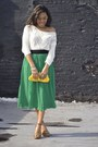 Pleated-forever-21-skirt-crochet-old-navy-top-buckled-coach-sandals