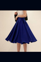 navy spandex skirt - black spandex skirt