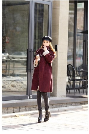 brick red coat JAMYTomnrabbit coat