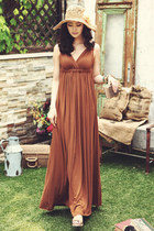 brown dress JAMYStyle by shez dress