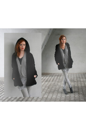 Cheap Monday boots - black Choies coat - Cheap Monday jeans - All Saints top