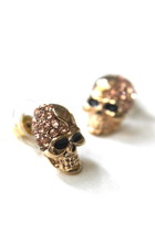 Retro Chic SKULL BLING STUD Earrings