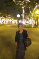 foreign exchange dress - Forever 21 blazer - glitter kate spade bag