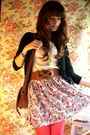 Black-zara-cardigan-beige-mango-top-brown-zara-belt-blue-zara-skirt-pink