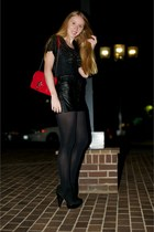black ankle Topshop boots - black opaque Express tights