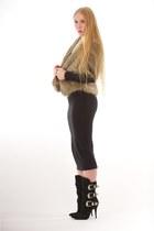 black noir Elkin dress - black western buckle Balmain boots