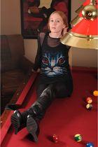 Torn dress - American Apparel dress - Camilla Skovgaard boots